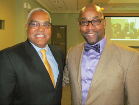 Founding donor Bertram L. Scott (L) and Dr. John LittleJohn Jr. Director of AMOC Initiative.